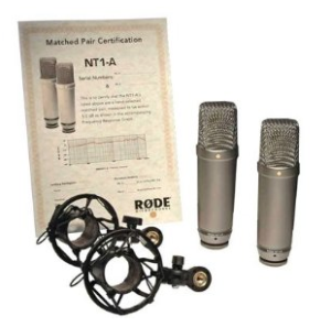 Rode NT1A Matched Pair Microphones